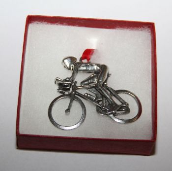 Bike Ornament Cyclist with Aero Bars Ornament Male