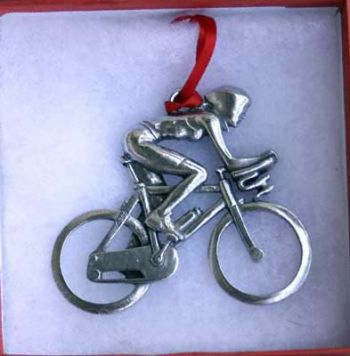 Bike Ornament Cyclist with Aero Bars Ornament Female